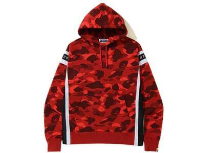 Bape Color Camo Logo Tape Pullover Hoodie Red (SS20)の写真