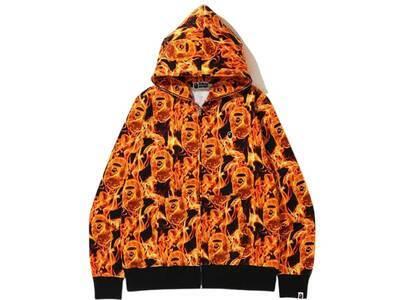 Bape Flame Wide Full Zip Hoodie Orange (SS20)の写真