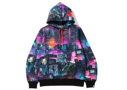 Bape Neon Tokyo Pullover Hoodie Black (SS20)の写真