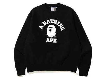 Bape Relaxed Classic College Crewneck Black (SS20)の写真