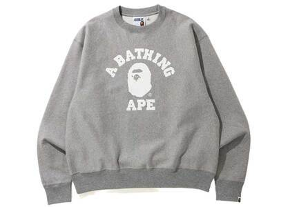 Bape Relaxed Classic College Crewneck Grey (SS20)の写真
