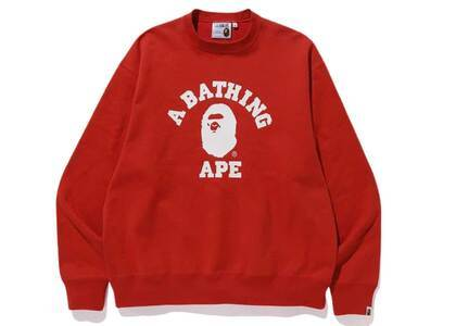 Bape Relaxed Classic College Crewneck Red (SS20)の写真