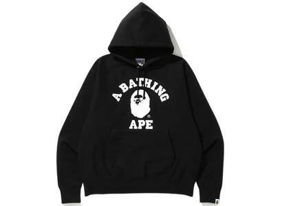 Bape Relaxed Classic College Pullover Hoodie Black (SS20)の写真