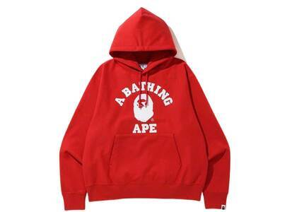 Bape Relaxed Classic College Pullover Hoodie Red (SS20)の写真