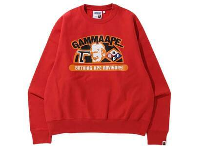 Bape Relaxed Classic Gamma Ape Crewneck Red (SS20)の写真