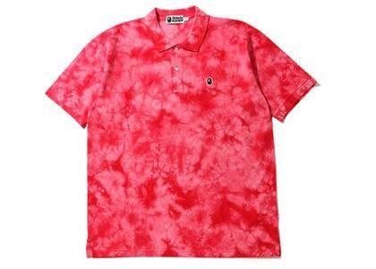Bape Relaxed Tie Dye Polo Red (SS20)の写真