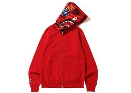 Bape Shark Full Zip Hoodie Red/Red (SS20)の写真