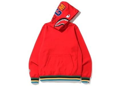 Bape Shark Line Rib Pullover Hoodie Red (SS20)の写真