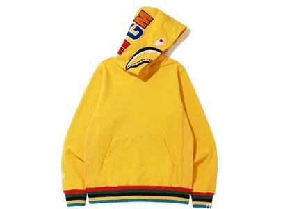 Bape Shark Line Rib Pullover Hoodie Yellow (SS20)の写真