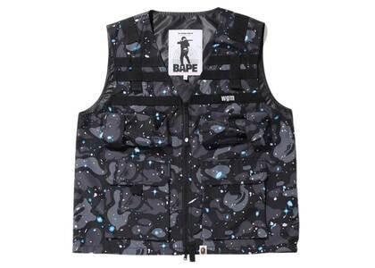 Bape Space Camo Military Vest Black (SS20)の写真