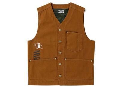 Bape Tiger Work Vest Brown (SS20)の写真