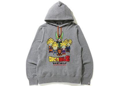 Bape x Dragon Ball Z Baby Milo Super Saiyan & Cell Pullover Hoodie Gray (SS20)の写真