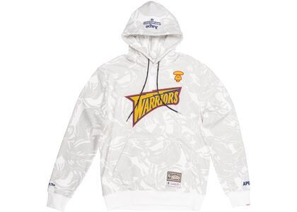 Aape x Mitchell & Ness Golden State Warriors Hoodie White (SS20)の写真