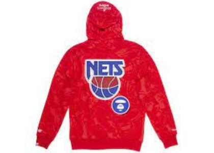 Aape x Mitchell & Ness New Jersey Nets Hoodie Red (SS20)の写真