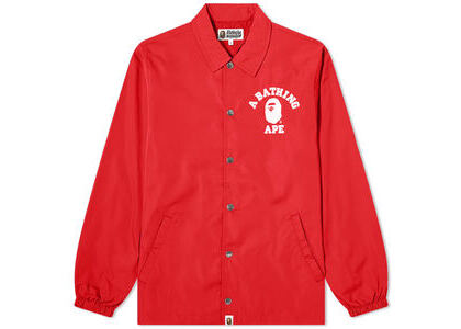 Bape College Coach Jacket Red (SS20)の写真