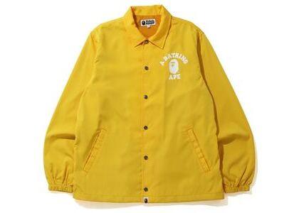 Bape College Coach Jacket Yellow (SS20)の写真