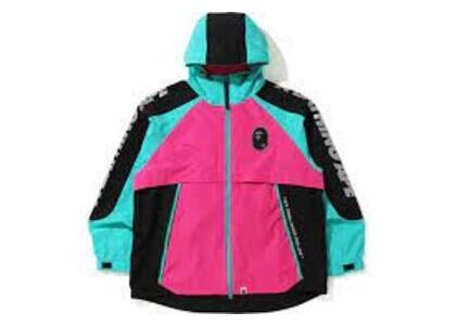 Bape Color Block Pocketable Nylon Windbreaker Pink (SS20)の写真