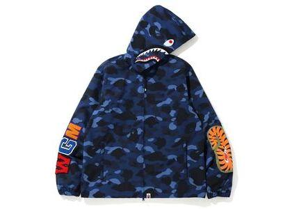 Bape Color Camo WGM Shark Hoodie Jacket Blue (SS20)の写真