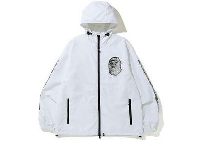 Bape Jewelry Motif Wide Hoodie Jacket White (SS20)の写真