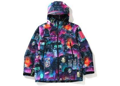 Bape Neon Tokyo Hoodie Jacket Black (SS20)の写真