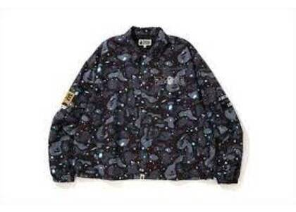 Bape Relaxed Space Camo Coach Jacket Black (SS20)の写真