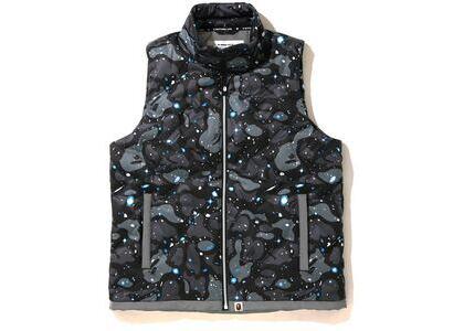 Bape Space Camo Down Vest Black (SS20)の写真