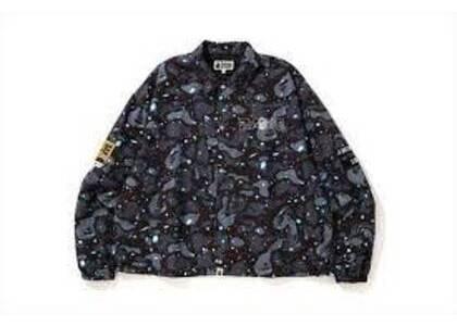Bape Space Camo Hoodie Down Jacket Black (SS20)の写真