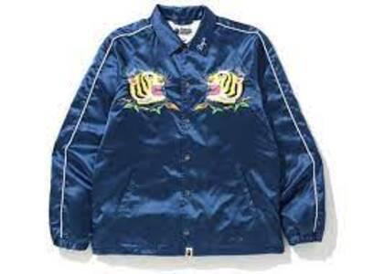 Bape Tiger Embriodery Coach Jacket Blue (SS20)の写真