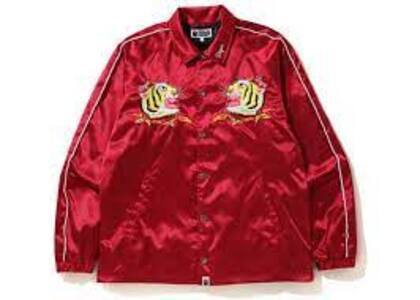 Bape Tiger Embriodery Coach Jacket Red (SS20)の写真