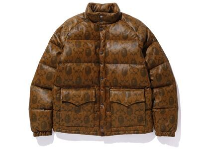 Bape x Coach Leather Down Jacket Brown (SS20)の写真
