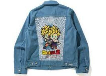 Bape x Dragon Ball Z Baby Milo Big Ape Head Denim Jacket indigo (SS20)の写真