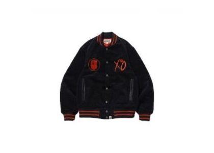Bape x XO Varsity Jacket Black (SS20)の写真