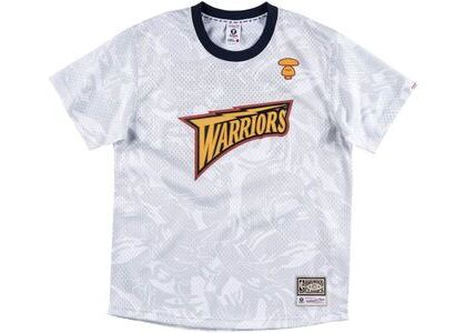 Aape x Mitchell & Ness Golden State Warriors BP Jersey White (SS20)の写真
