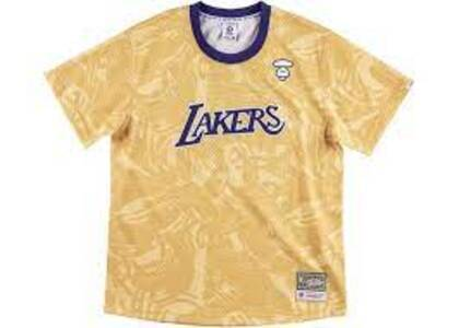 Aape x Mitchell & Ness Los Angeles Lakers BP Jersey Gold (SS20)の写真
