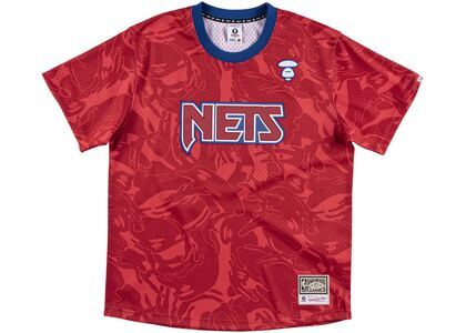 Aape x Mitchell & Ness New Jersey Nets BP Jersey Red (SS20)の写真