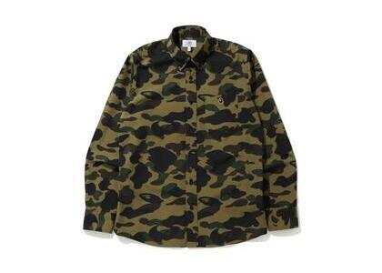 Bape 1st Camo BD L/S Shirt Green (SS20)の写真