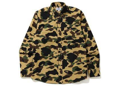 Bape 1st Camo BD L/S Shirt Yellow (SS20)の写真