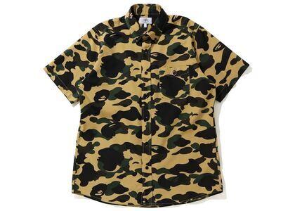 Bape 1st Camo BD S/S Shirt Yellow (SS20)の写真