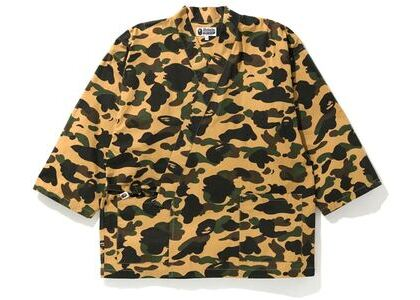 Bape 1st Camo Kimono Shirt Yellow (SS20)の写真