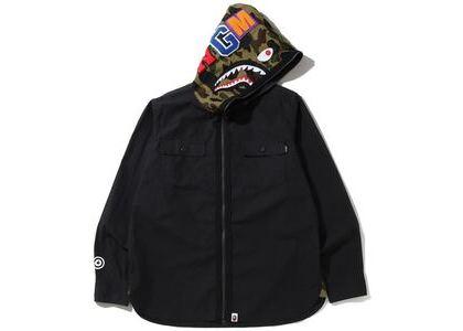 Bape 1st Camo Shark Hoodie Shirt Black (SS20)の写真