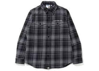 Bape Check Flannel Shirt Black (SS20)の写真