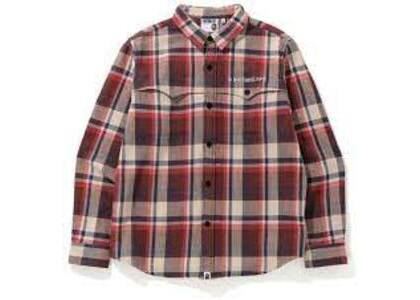 Bape Check Flannel Shirt Red (SS20)の写真