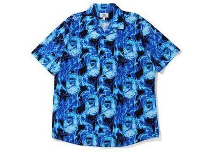 Bape Flame Open Collar Shirt Blue (SS20)の写真