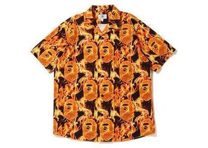 Bape Flame Open Collar Shirt Orange (SS20)の写真