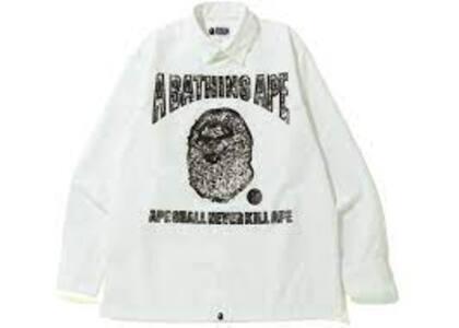Bape Jewelry Motif Wide Shirt White (SS20)の写真
