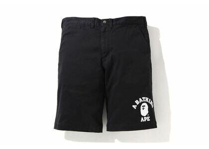 Bape College Chino short Black (SS20)の写真