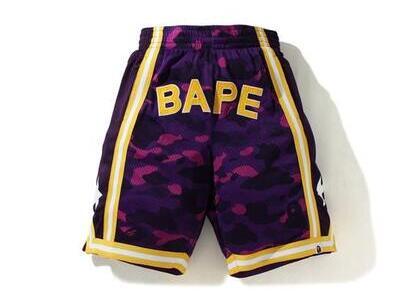 Bape Color Camo Wide Basketball short Purple (SS20)の写真