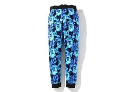 Bape Flame Slim Sweatpants Blue (SS20)の写真