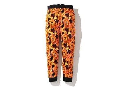 Bape Flame Slim Sweatpants Orange (SS20)の写真