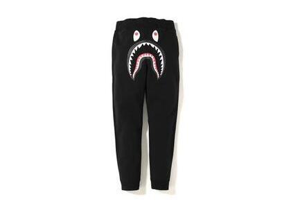 Bape Shark Line Rib Slim Sweatpants Black (SS20)の写真